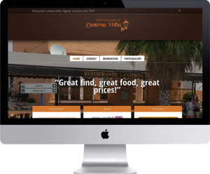 Website Restaurant Lanterna Velha, WordPress